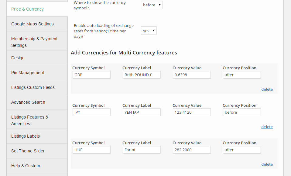 Automatic multi currency conversion