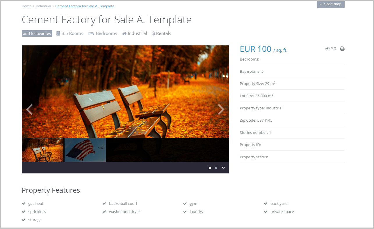 New feature in WP Residence 1.16.1 Property Page Custom Templates