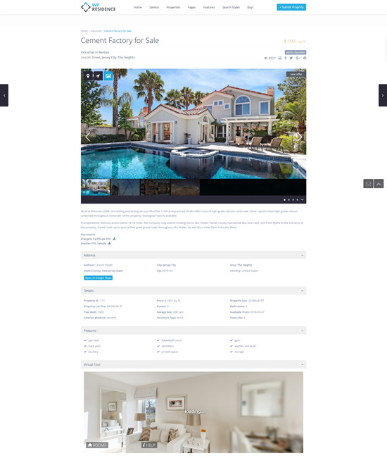 Full width property page