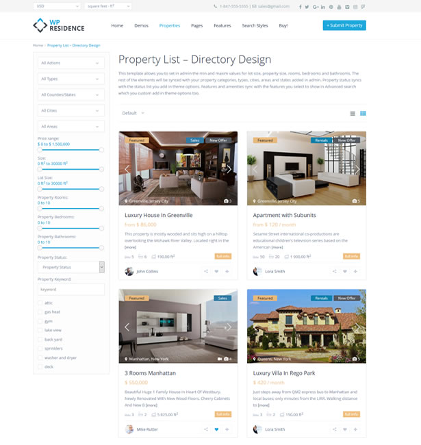 WpResidence - The most Advanced real estate theme for Wordpress