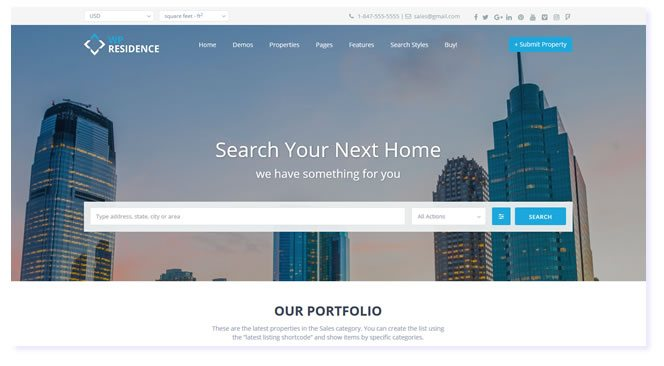 Premium Real Estate WordPress Themes developed by WpEstate